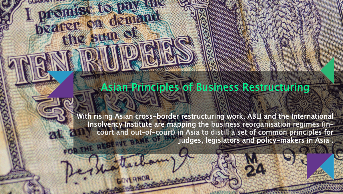 With rising cross-border restructuring work in Asia, ABLI and the International Insolvency Institute are mapping the business reorganisation regimes in Asia to distill a set of common principles for judges, legislators and policy-makers in Asia